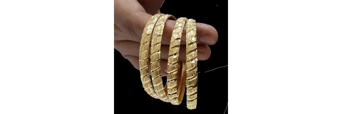 24 Karat Gold Bangles