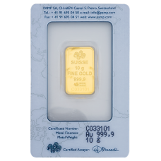 10 Gm PAMP Suisse Gold bar 999.9 Purity