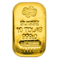 10 Tola PAMP Suisse Gold bar 999.9 Purity