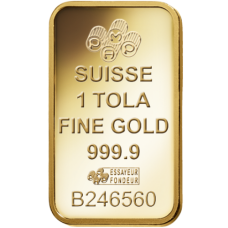 1 Tola PAMP Suisse Gold bar 999.9 Purity