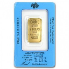 2 Tola PAMP Suisse Gold bar 999.9 Purity