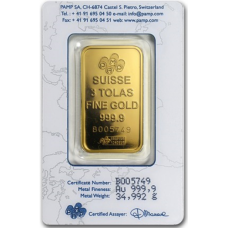 3 Tola PAMP Suisse Gold bar 999.9 Purity