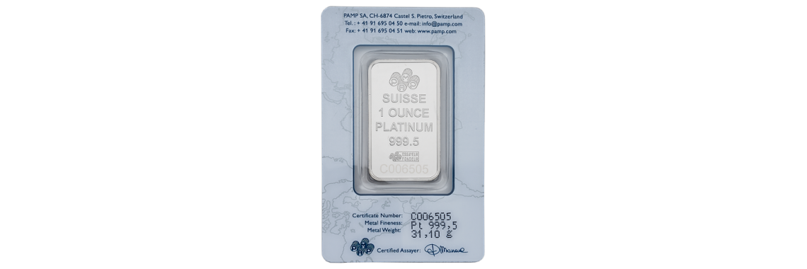 1 Ounce Platinum Bar