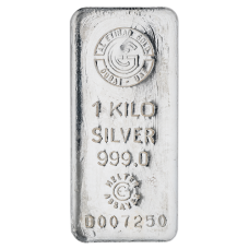 1 Kg Etihad Silver Bar with 999.0 Purity